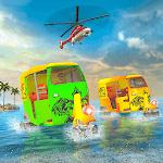Water Surfing Tuk Tuk Rickshaw Game icon