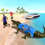 US Police Crocodile Simulator 2019: Beach Attack🐊 icon