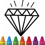 Diamond Coloring & Drawing for kids for pc logo