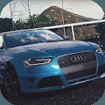 Drift Racing Audi RS4 Avant Simulator Game icon