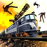 Train shooting - Zombie War for pc logo