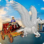 Flying Horse Taxi City Transport icon