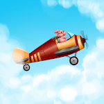Kid airplane game icon