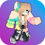 Girls Skins for Minecraft PE for pc logo