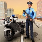 US Police Cop Pursuit Gangster Criminal Bike Chase icon