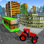Towing Tractor Simulator: Tractor Pull Bus Game icon