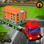 Mobile Home Transporter Truck: House Mover Games icon