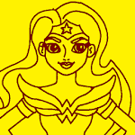 Action Wonder Women Coloring icon