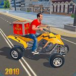 ATV Bike Pizza Delivery: Fast-Food Delivery Boy icon