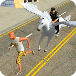 Flying Mounted Police Horse Crime Chase icon