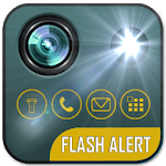 Flashlight and Flash Alerts On Call and SMS for pc logo