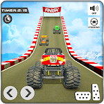 Sky Ramp Monster Truck Stunts Racing Challenge icon