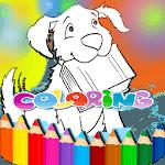 Color kids: Cartoon Coloring book icon