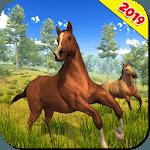 Wild Horse Family Simulator : Horse Games for pc logo