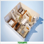 3D Small House Layout Design icon