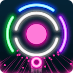 Circle Break - glow neon smash icon