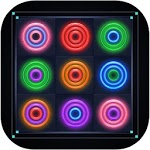 Merge Rings Neon icon