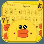 Yellow Cute Adorable Duck Keyboard Theme icon