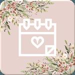Wedding Countdown Boho Vintage Flower Widget icon