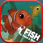 Feed and grow : christmas fish icon
