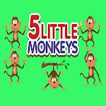 five little monkeys kids favorite rhyme song icon