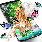 Forest fairy magical night live wallpaper icon