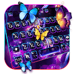 Live Neon Butterfly Keyboard Theme icon