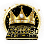 3D Golden Crown Keyboard icon