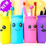Creative school supplies DIY icon