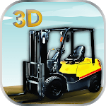 3D Heavy Cargo Forklift icon