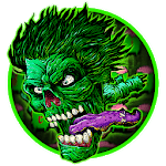 Green Zombie Skull Graffiti Keyboard  Theme icon