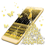 Golden Butterfly Glitter Girl Keyboard icon