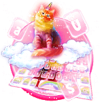 Cute Rainbow Pink Cat Keyboard icon