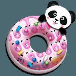 Cute Pink Donut Panda keyboard icon