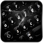 Cool Glossy Black Keyboard icon
