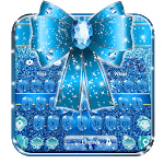 Blue Glitter Bow Knot Keyboard Theme🎀 for pc logo