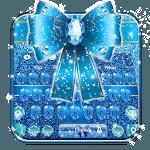 Blue Glitter Bow Knot Keyboard Theme🎀 icon
