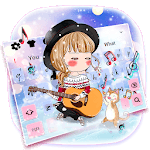 Kawaii Love Girl Keyboard Theme for pc logo