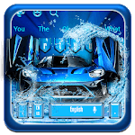 Blue Sports Racing Car Keyboard icon