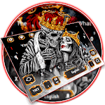 Gold skull King & Queen Keyboard Theme icon