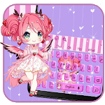 Cute Kawai Girl Keyboard theme for pc logo