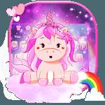 Pink Cute Unicorn Keyboard theme icon