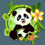 Adorable Cute Panda keyboard theme icon