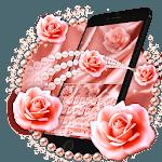 Pink Rose Gold Luxury Keyboard Theme icon