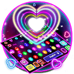 Colorful Sparkle Neon Heart Keyboard icon
