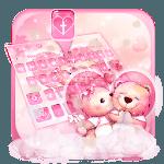 Pink Teddy Couple Love Keyboard Theme icon