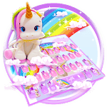 Cute Rainbow Unicorn Smile Keyboard for pc logo