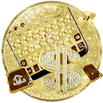 Golden Luxury Dollar Keyboard Theme icon
