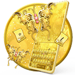 Golden Glitter Butterfly Keyboard Theme icon