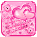 Glossy Pink Love Heart Keyboard Theme icon